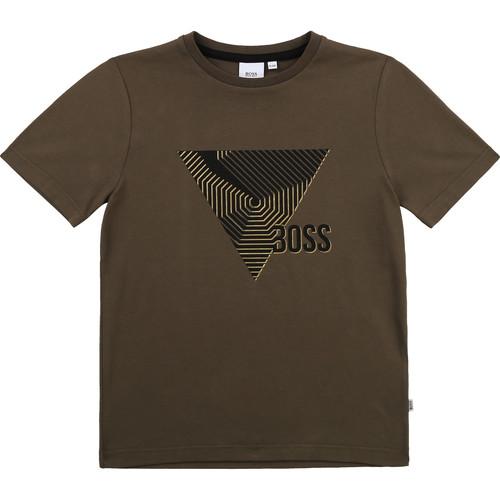Clothing Boy Short-sleeved t-shirts BOSS SIMEO Kaki