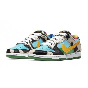 Shoes Low top trainers Nike SB Dunk Low Ben&Jerry's White/Lagoon Pulse-Black-University Gold