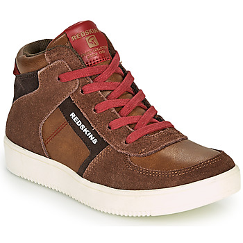 Shoes Boy Hi top trainers Redskins LAVAL KID Brown / Red