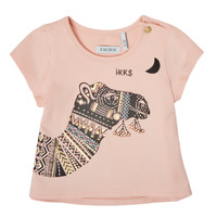 Clothing Girl Short-sleeved t-shirts Ikks XS10100-32 Pink