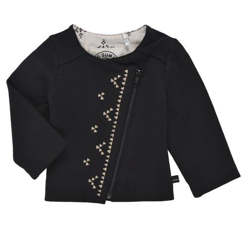 Clothing Girl Jackets / Cardigans Ikks XS17020-02 Black