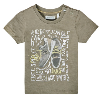 Clothing Boy Short-sleeved t-shirts Ikks XS10141-57 Kaki