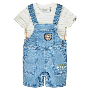 Clothing Boy Jumpsuits / Dungarees Ikks XS37011-84 Blue