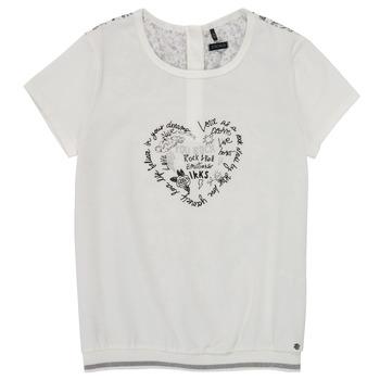 Clothing Girl Short-sleeved t-shirts Ikks XS10242-19-J White