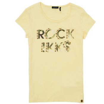 Clothing Girl Short-sleeved t-shirts Ikks XS10182-73-C Yellow