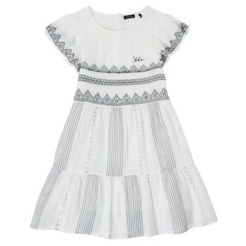 Clothing Girl Short Dresses Ikks XS30012-11-J White