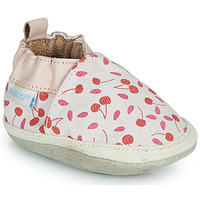 Shoes Girl Slippers Robeez SUNNY CAMP Ecru / Pink / Red