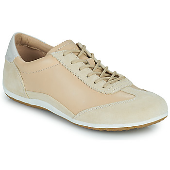 Shoes Women Low top trainers Geox D VEGA Beige