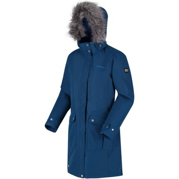 Clothing Women Parkas Regatta Lumexia III Waterproof Insulated Hooded Parka Jacket Blue Blue