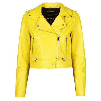 Clothing Women Leather jackets / Imitation leather Oakwood YOKO Yellow