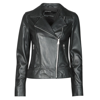 Clothing Women Leather jackets / Imitation leather Oakwood MARJORY Black