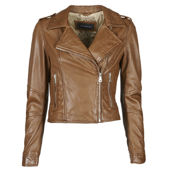 Clothing Women Leather jackets / Imitation leather Oakwood ALIZEE Cognac