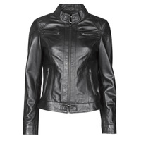 Clothing Women Leather jackets / Imitation leather Oakwood LINA Black