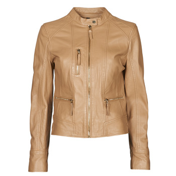 Clothing Women Leather jackets / Imitation leather Oakwood EACH Camel