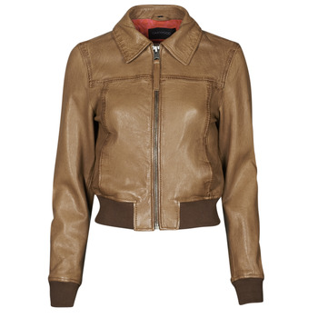 Clothing Women Leather jackets / Imitation leather Oakwood LENNOX Cognac