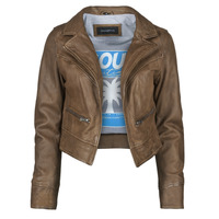 Clothing Women Leather jackets / Imitation leather Oakwood TRISH Brown