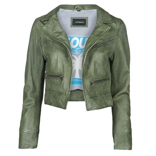 Clothing Women Leather jackets / Imitation leather Oakwood TRISH Green
