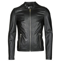 Clothing Men Leather jackets / Imitation leather Oakwood MARKER Black