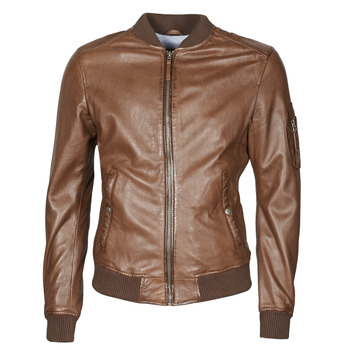 Clothing Men Leather jackets / Imitation leather Oakwood UNITED Brown