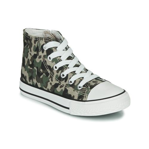Shoes Children Hi top trainers Citrouille et Compagnie OUTIL Camouflage