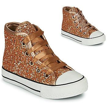 Shoes Girl Hi top trainers Citrouille et Compagnie OUTIL Bronze