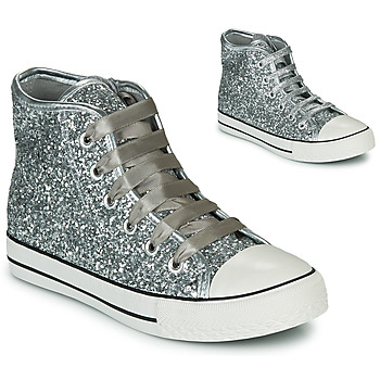Shoes Girl Hi top trainers Citrouille et Compagnie OUTIL Silver