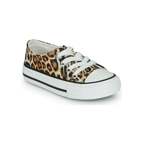 Shoes Girl Low top trainers Citrouille et Compagnie OTAL Leopard