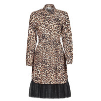 Clothing Women Short Dresses Liu Jo WA1218-T9147-T9680 Leopard