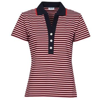 Clothing Women Short-sleeved polo shirts Liu Jo WA1142-J6183-T9701 Marine / White / Red