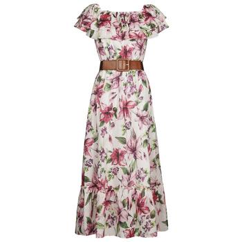 Clothing Women Long Dresses Liu Jo WA1496-T5976-T9706 Flower