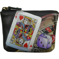 Bags Women Pouches Anuschka 1031 High Roller -Hand Painted Leather Multicolour