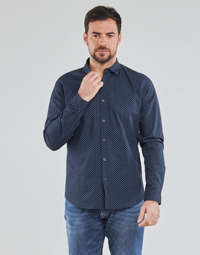 Clothing Men Long-sleeved shirts Le Temps des Cerises  Blue