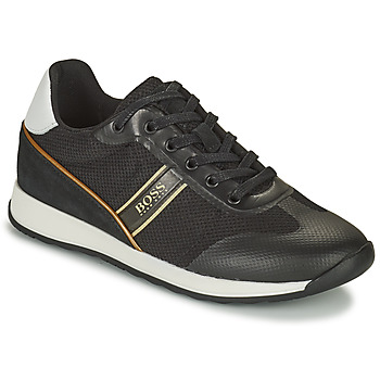Shoes Boy Low top trainers BOSS TRAMMI Black / Gold