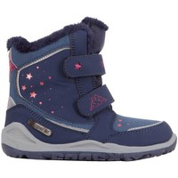 Shoes Girl Snow boots Kappa Cui Tex Navy blue, Pink