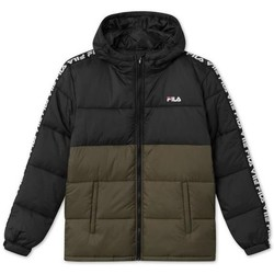 Clothing Men Duffel coats Fila Tanner Tape Puffer Jkt Black, Olive