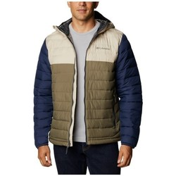 Clothing Men Duffel coats Columbia Powder Lite Hooded Jacket Beige, Brown, Navy blue