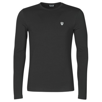 Clothing Men Long sleeved tee-shirts Emporio Armani EA7 TRAIN CORE SHIELD Black