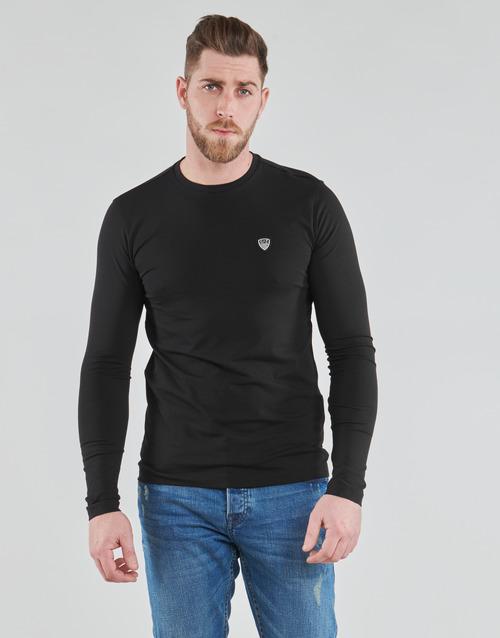 Clothing Men Long sleeved tee-shirts Emporio Armani EA7 TRAIN CORE SHIELD Black