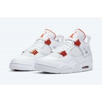 Shoes Hi top trainers Nike Air Jordan 4 Metallic Orange White/Total Orange