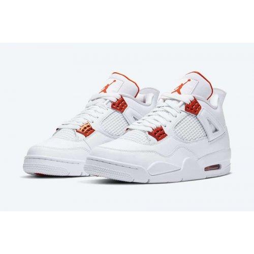 Shoes Hi top trainers Nike Air Jordan 4 Metallic Orange White/Total Orange