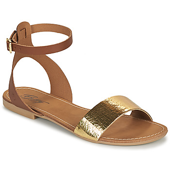 Shoes Women Sandals Betty London GIMY Camel / Gold
