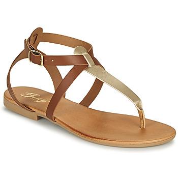 Shoes Women Sandals Betty London ORIOUL Camel / Gold
