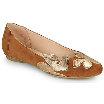 Shoes Women Flat shoes Betty London ERUNE Camel / Gold