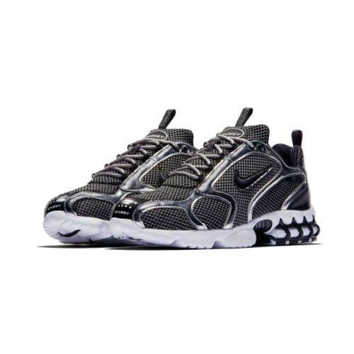 Shoes Low top trainers Nike Nike Zoom Spiridon x Stussy Platinum Pure Platinum/ Black