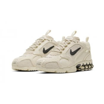 Shoes Low top trainers Nike Nike Zoom Spiridon x Stussy Fossil Fossil/ BLack