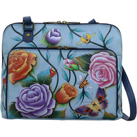 Bags Women Shoulder bags Anuschka 617 Roses D Amour-Hand Painted Leather Multicolour
