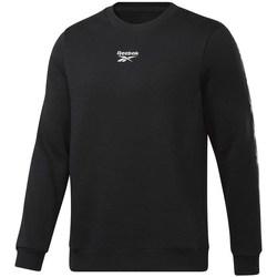 Clothing Men Sweaters Reebok Sport TE Tape Crew Black