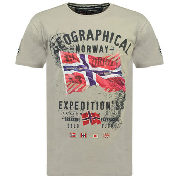 Clothing Boy Short-sleeved t-shirts Geographical Norway JITCHEN Grey