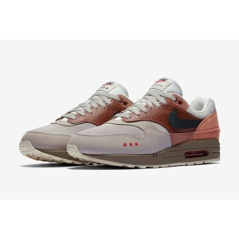 Shoes Low top trainers Nike Air Max 1 Amsterdam Red Bark/Khaki/Terra Blush/Dusty Peach