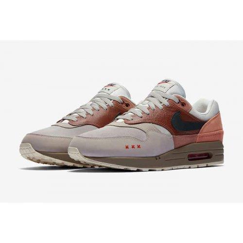 Shoes Low top trainers Nike Air Max 1 Amsterdam Red Bark/Khaki/Terra Blush/Dusty Peach
